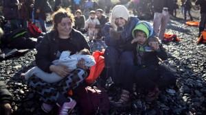 Yezidee refugee family on Lesbos